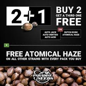 PARADISE SEEDS BUY 2 GET 1 FREE DISCOUNT