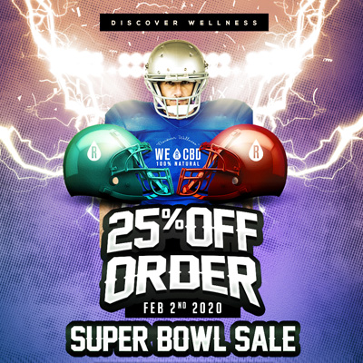 WE R CBD discount superbowl
