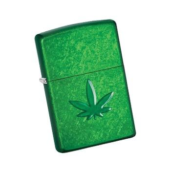 cannabis leaf zippo lighter